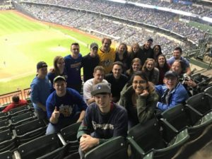 ASABE students at a Brewers game