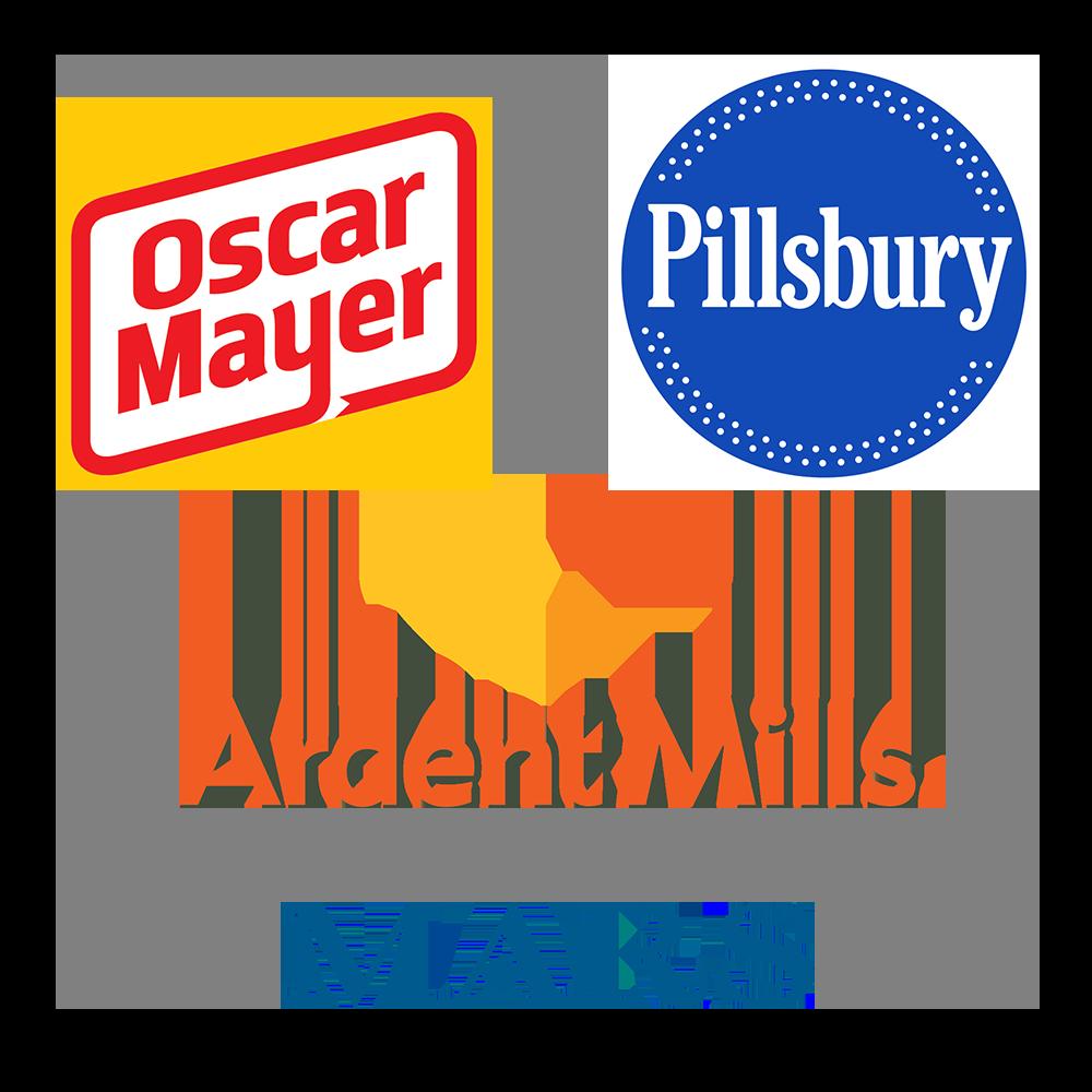 Oscar Mayer, Pillsbury, Ardent Mills, and Mars logos