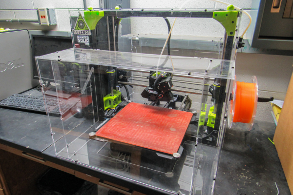 Lulzbot 3d printer at the machine shop