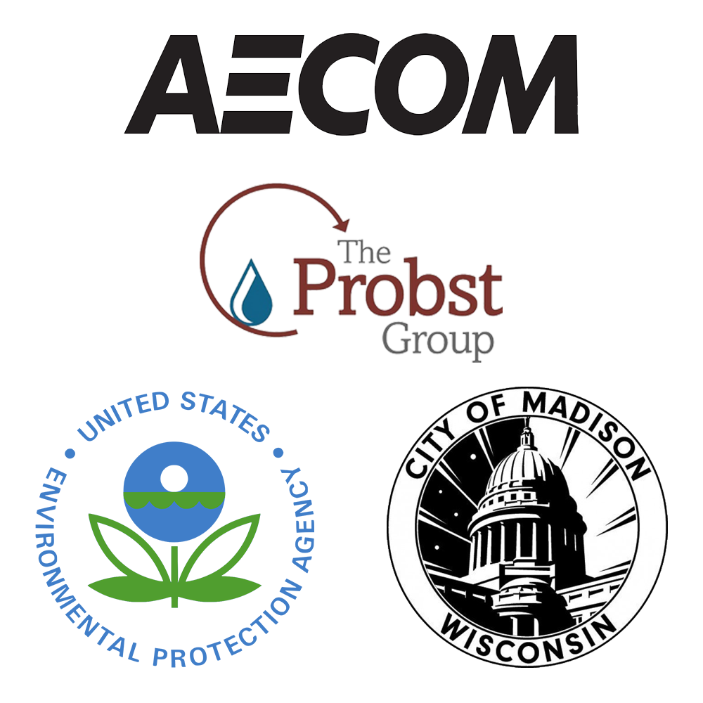 Aecom, The Probst Group, EPA, and City of Madison logos